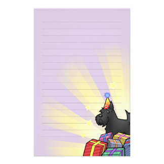 Birthday Scottish Terrier Stationery