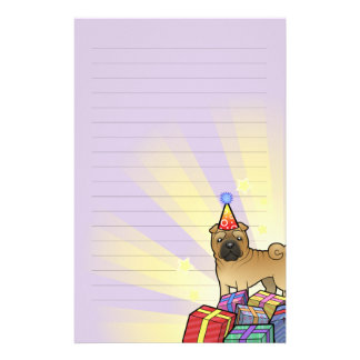 Birthday Shar Pei Stationery