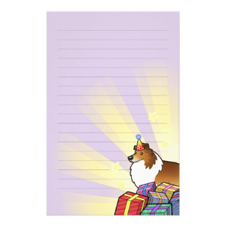 Birthday Shetland Sheepdog / Collie Stationery