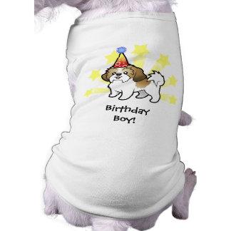 Birthday Shih Tzu (puppy cut) Sleeveless Dog Shirt