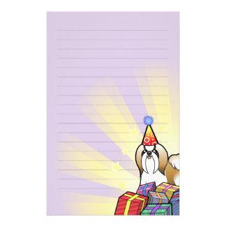 Birthday Shih Tzu (show cut) Customised Stationery