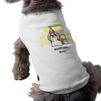 Birthday Shih Tzu (show cut) Sleeveless Dog Shirt