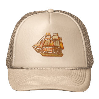 Birthday Ship Mesh Hats