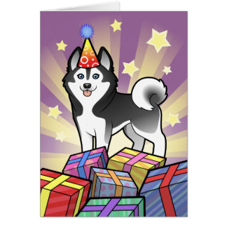Birthday Siberian Husky / Alaskan Malamute Greeting Card