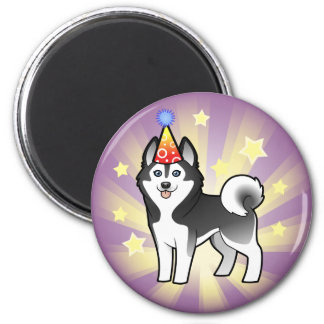 Birthday Siberian Husky / Alaskan Malamute Magnet