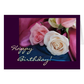 Birthday silk and roses card