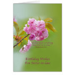 Birthday, Sister-in-law, Cherry Blossoms Cards