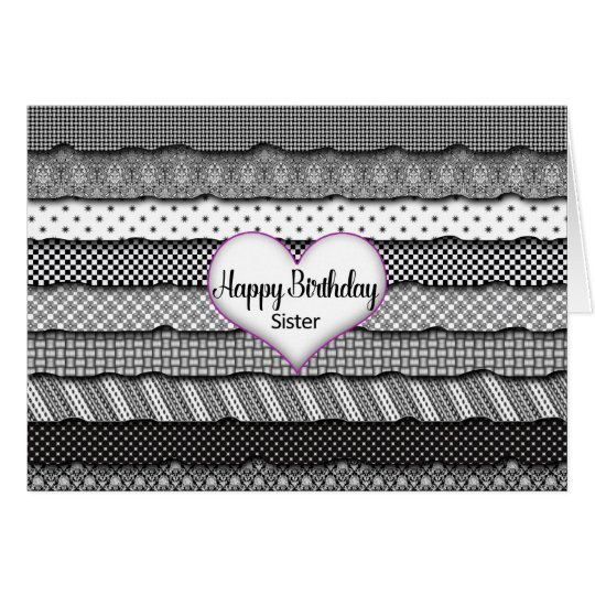 Birthday Sister - Layers of Ruffles and Heart Card