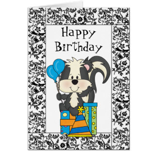 Birthday Skunk Card
