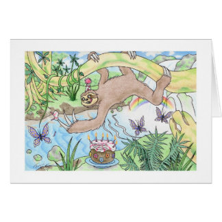 Birthday Sloth Card