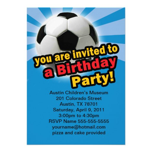 Birthday Soccer Invitation