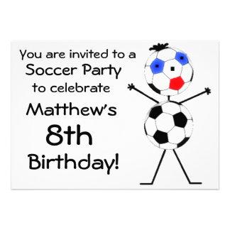 Birthday Soccer Party Invitation