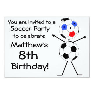 Birthday Soccer Party Invitation