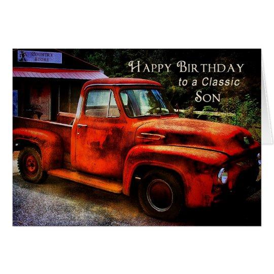 Birthday - Son - Classic Pickup Truck Card