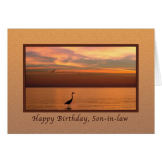 Birthday, Son-in-law, Ocean View at Sunset Greeting Card
