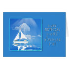 BIRTHDAY - SON-IN-LAW - SAILBOAT - BLUE SEA CARD