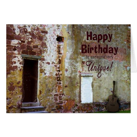 BIRTHDAY - SPECIAL UNIQUE PERSON - CARD