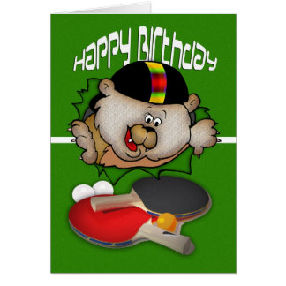 Birthday sport Ping Pong Table Tennis Greeting Card