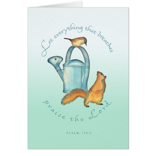 Birthday/Squirrel and Wren Card