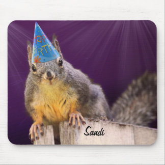 Birthday Squirrel Photo Mouse Pad