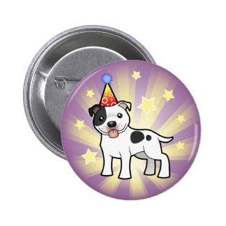 Birthday Staffordshire Bull Terrier 6 Cm Round Badge