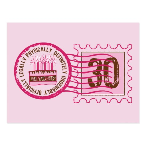 Birthday Stamp 30 Postcard