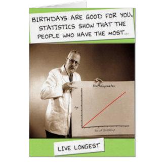 BIRTHDAY STATISTICS GREETING CARD