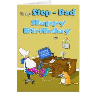 birthday step dad greeting card