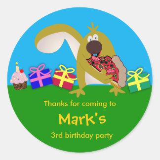 Birthday sticker: Squirrel