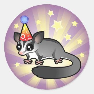 Birthday Sugar Glider Round Sticker