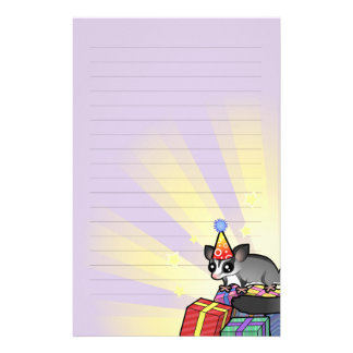 Birthday Sugar Glider Stationery