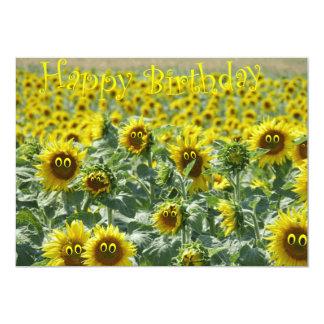 Birthday sunnies 13 cm x 18 cm invitation card