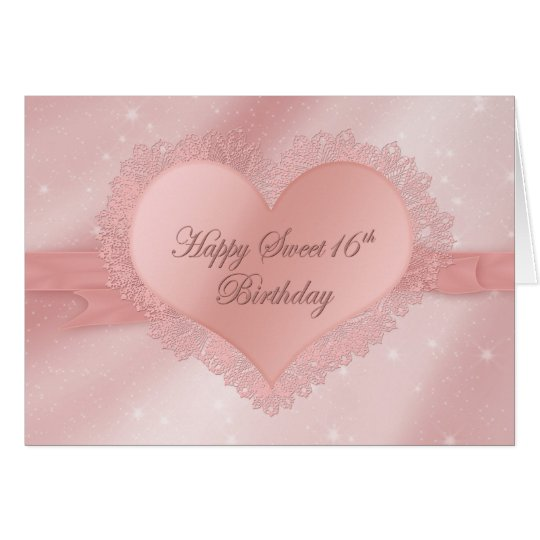 Birthday, Sweet 16 - Dainty Delicate Heart, Lace