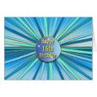 Birthday - Sweet 16th - Sunburst - Blues/Golds Card