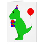 Birthday T-Rex Greeting Card