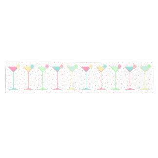 Birthday Table Runner, confetti coloured martini's Short Table Runner