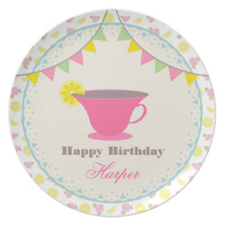 Birthday Tea Party Plate