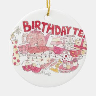 Birthday Tea Round Ceramic Decoration