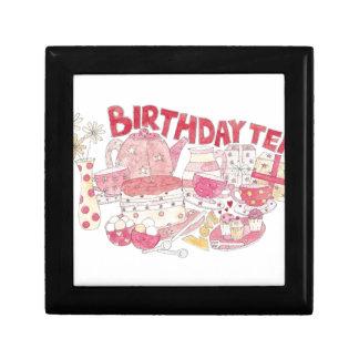 Birthday Tea Small Square Gift Box