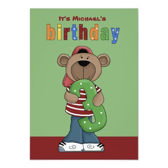 Birthday Teddy 3 Year Old