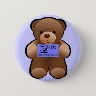 Birthday Teddy 6 Cm Round Badge
