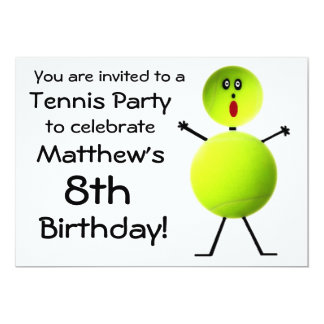 Birthday Tennis Party Invitation