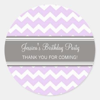 Birthday Thank You Custom Name Favor Tags Lilac