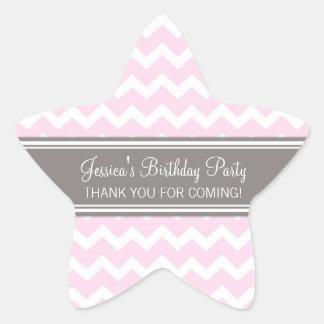 Birthday Thank You Custom Name Favor Tags Pink