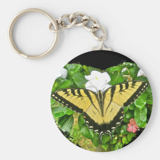 Birthday Tiger Swallowtail Butterfly Items Basic Round Button Key Ring