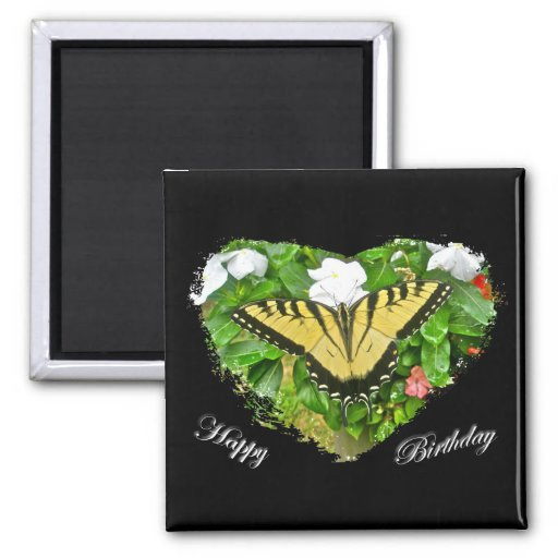 Birthday Tiger Swallowtail Butterfly Items Refrigerator Magnets