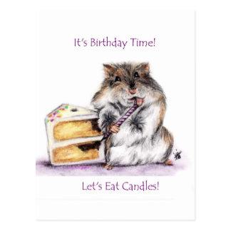 Birthday Time (Hamster) Postcards