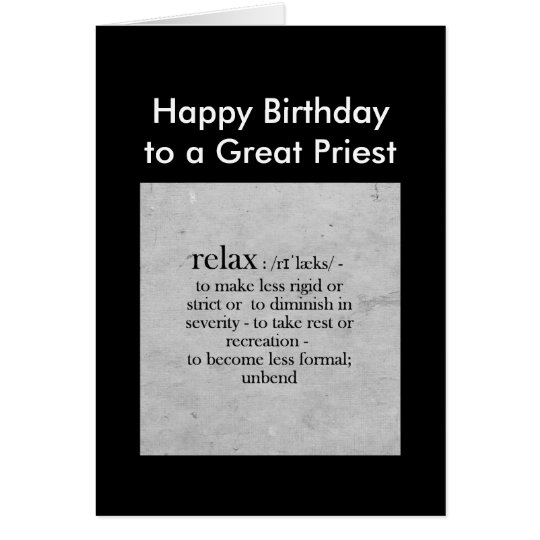 Birthday to a Great Priest definition Relax Humour