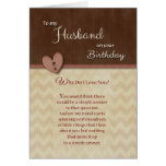 Birthday to Husband - Why Do I Love You? Greeting Card