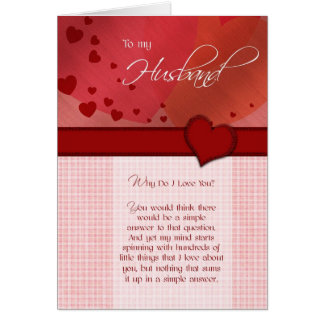 Birthday - To my husband Greeting Card